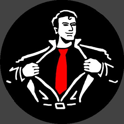 Breite Krawatten